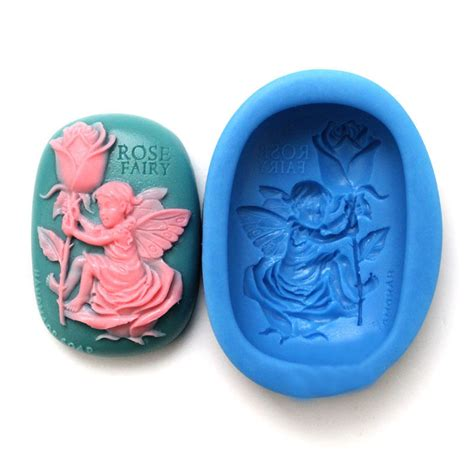 Handmade Soap Mold - oval floral silicone handmade soap mold soap mould
