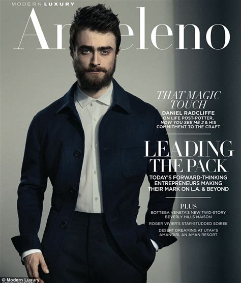 Grungy Potter Daniel Radcliff On The Cover Of Details Magazine by Daniel Radcliffe Shows Manly Beard On The Cover Of