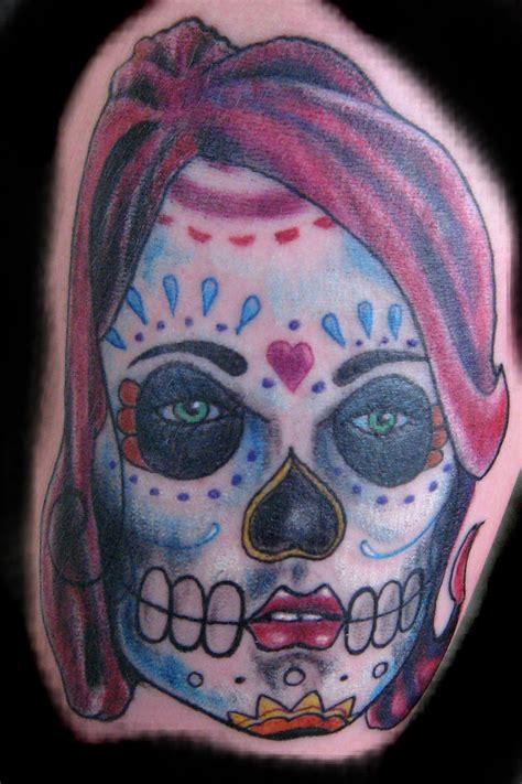 tattoo girl skull sugar skull girl tattoo by mubbamubba on deviantart
