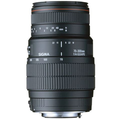 Sigma Dg Macro 70 300mm sigma 70 300mm f4 5 6 dg apo macro a mount lens info