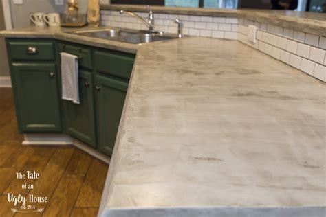 Faux Concrete Countertops by Diy Faux Concrete Countertops Sincerely Designs
