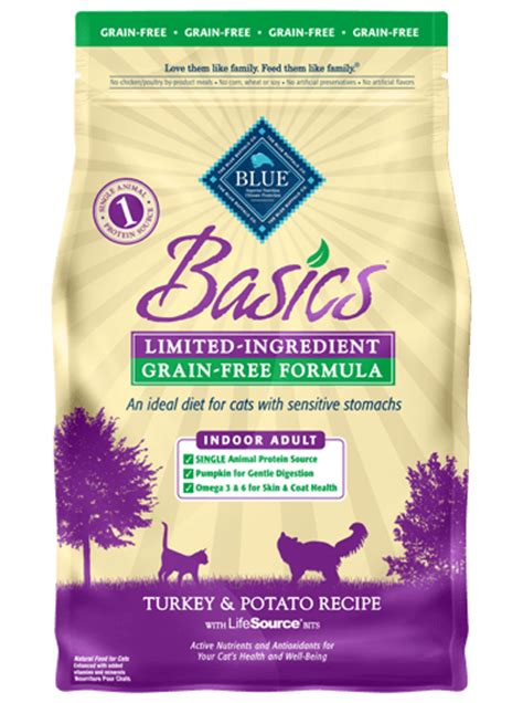 blue buffalo grain free food blue basics 174 cat food grain free indoor turkey potato recipe