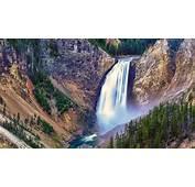 Yellowstone River Waterfall 4K Desktop Wallpaper