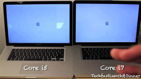 Macbook Pro I7 15 quot 2 4 ghz i5 vs 2 66 ghz i7 macbook pro boot up showdown