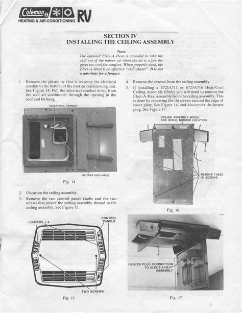 willwander coleman air conditioner installation instructions mach   mach  iii el series
