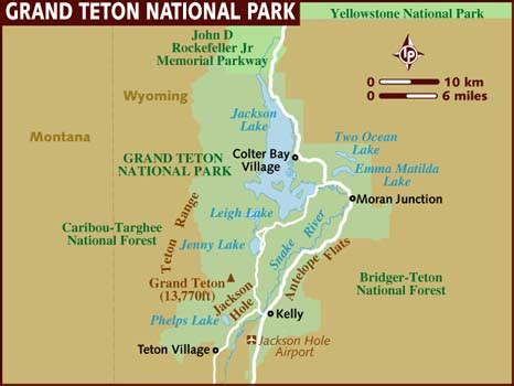 grand teton national park map map of grand teton national park