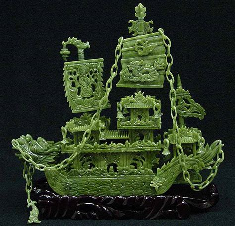 jade dragon boat carving jade dragon boat carving handmade in china for sale bj38d