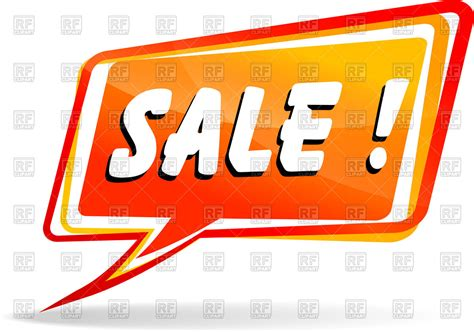 Royalty Free Speech Sles speech with word sale vector clipart image