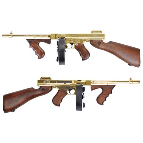 Airsoft Gun King Arms King Arms Thompson M1928 Chicago Grand Special Golden