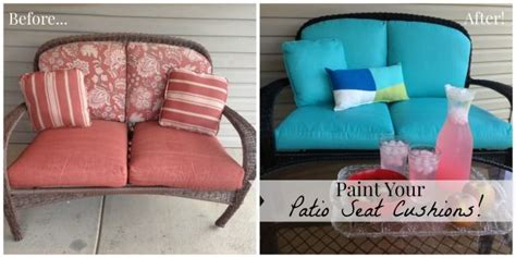 Paint Your Patio Seat Cushions and Transform Your Patio