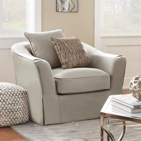 slipcovered arm chair homesullivan sydney grey down filled slipcovered arm chair