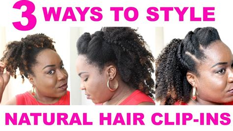 how to fix kinky weave on natural hair 3 ways to style kinky natural hair extensions clip ins