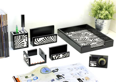 zebra print desk accessories animal print desk accessories office supplies so