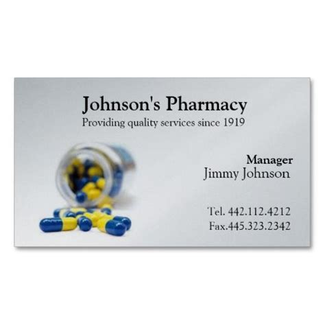 pharmacy business card template 185 best pharmacist business cards images on
