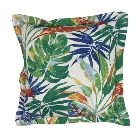 Shop Decorative Pillows Shop Allen Roth Green And Floral Square Throw Pillow