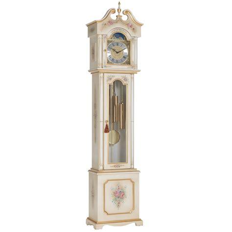 grandfather clock venetian white antico gold grandfather clock