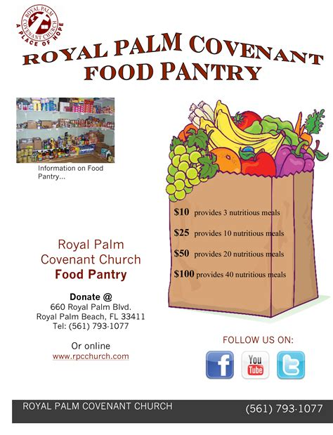 Food Pantry Donation List by Food Pantry Royal Palm Covenant Church Royal Palm