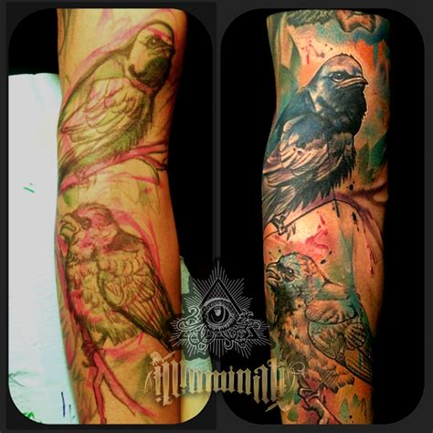 watercolor tattoo orange county orange county artist rafael barragan black and