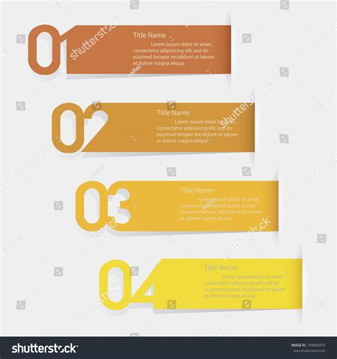 number templates for banners design clean number banners templategraphic website stock