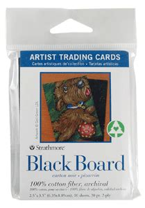 strathmore cards templates strathmore artist trading card pack of 10 black board
