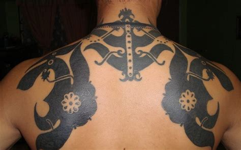 tattoo of an iban from borneo ibanology