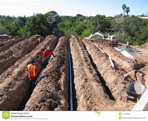 Pipe Installation Pipe Installation For Irrigation Editorial Image Image