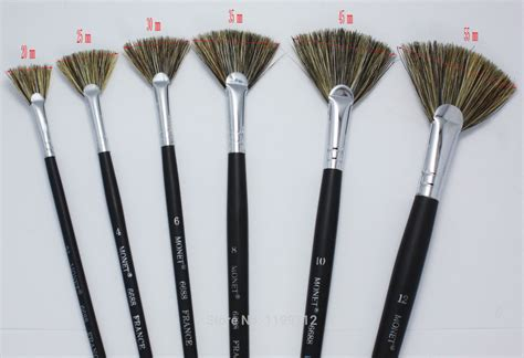 fan brush painting aliexpress com buy monet 6 pc set fan brush boar