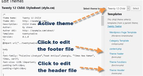editor theme header how to edit the wordpress header and footer filester files