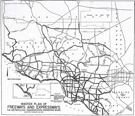 california map freeways southern california highways