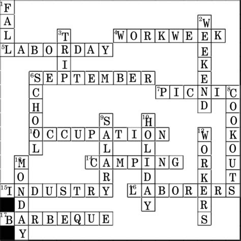 groundhog day director crossword image gallery labor day crossword