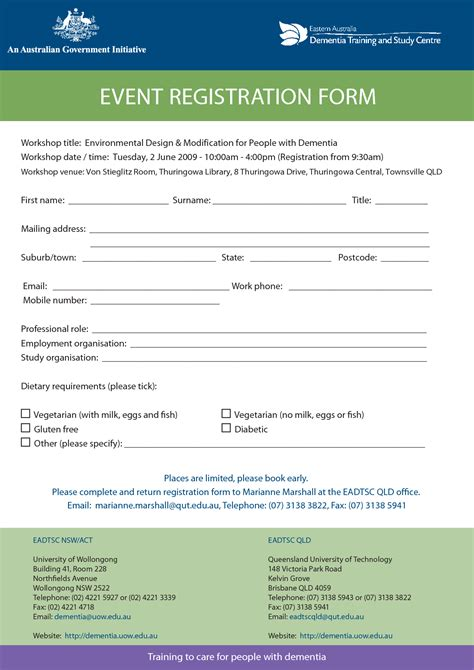 camp registration form template word 69 infantry
