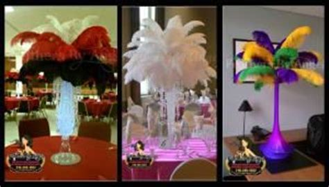 Feathers By Angel Ostrich Feather Centerpieces Ostrich Feather Centerpieces For Rent