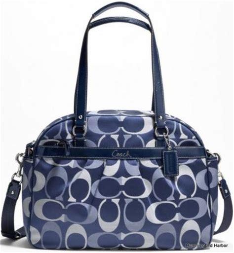 Tote Bag Original Coach Navy Blue nwt coach 18376 signature baby bag tote purse navy blue authentic ebay