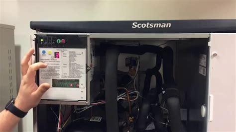 scotsman prodigy machine light blinking resetting a scotsman prodigy cuber