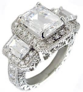 cz sterling silver wedding sets wedding sets sterling silver cz wedding sets rings