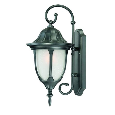Craftsman Outdoor Light Fixtures by Acclaim Lighting Craftsman 2 Collection 1 Light Matte Black Outdoor Wall Mount Fixture 5182bk