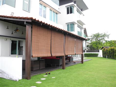 roll up awnings decks alluring 50 bamboo canopy decorating decorating design of
