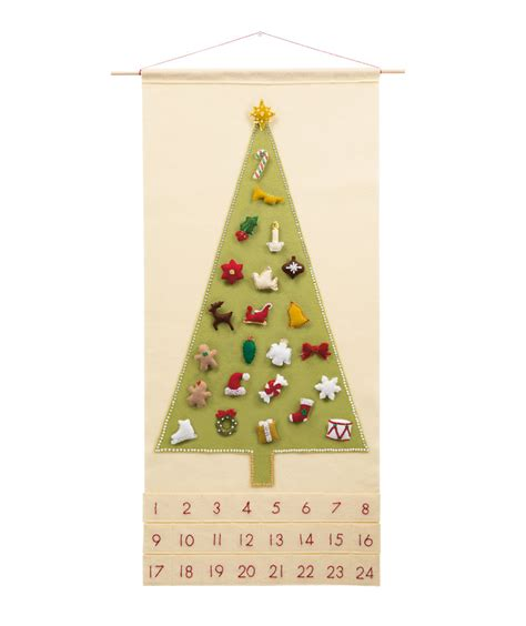 christmas advent calendar pattern wool felt christmas
