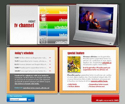 Free Tv Channel Website Template 300076292 Tv Channel Website Templates Free