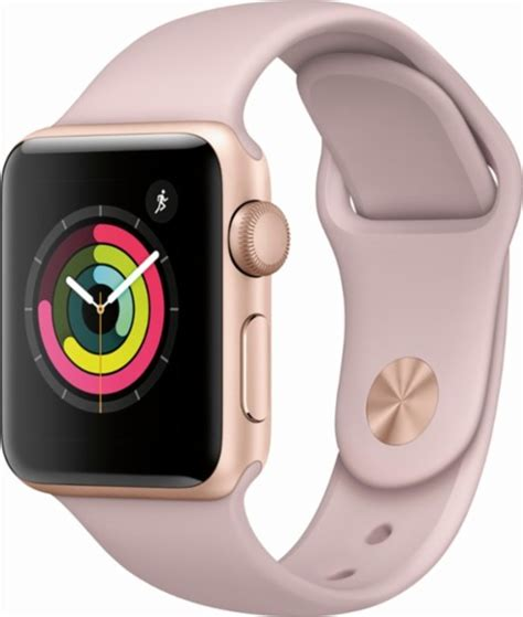 Apple Series 3 38mm Gold Aluminium Pink Sport apple apple series 3 gps 38mm gold aluminum
