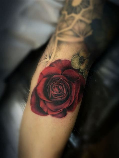 red roses tattoos blood by meghan of true blue professional