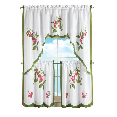 hummingbird curtains hummingbird and flowers tier curtain set by collections
