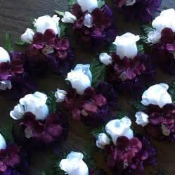 purple corsage eggplant purple hydrangea and roses silk flowers corsage