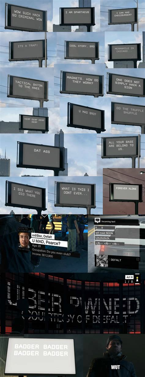 Watch Dogs Meme - billboard memes in watch dogs xd by thereck12 meme center