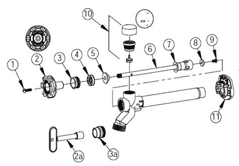 Outside Faucet Parts by Woodford Outdoor Faucets Model 17 Repair Parts Diagrams