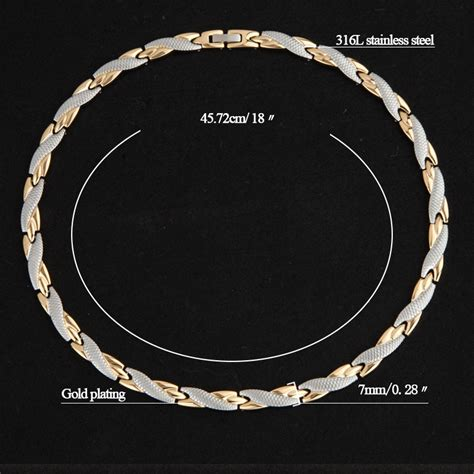 Negative Ion L by Health Jewelry Energy Necklace Chokers 7mm 316l Stainless