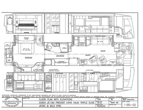 prevost rv floor plans 100 rv floor plans 100 sportsman rv floor plans kz
