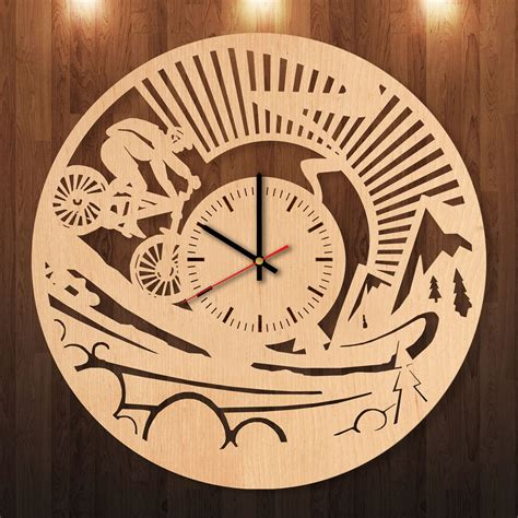 Wall Clock Handmade - motosport handmade wood wall clock for sport fans