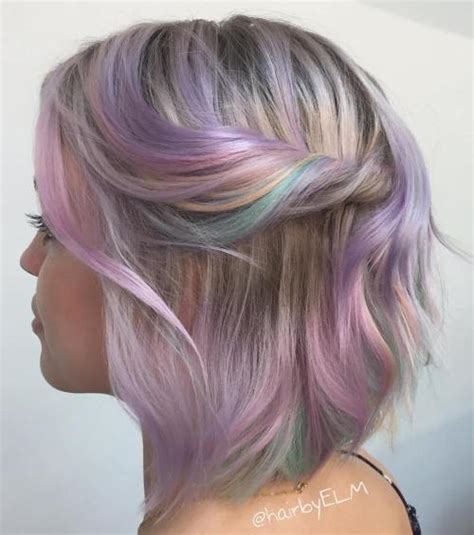 platinum bob with pastel highlights pastel hair guide 40 shades of pastel hair color