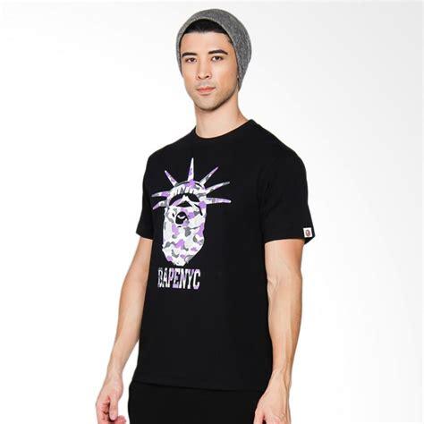 Kaos Tshirt Baju A Bathing Ape Bape Black Premium jual a bathing ape nyc ny camo ape kaos pria black